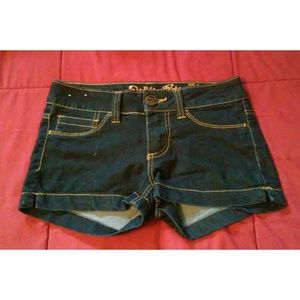 Pants - [Worn] Dark Blue Jean Shorts